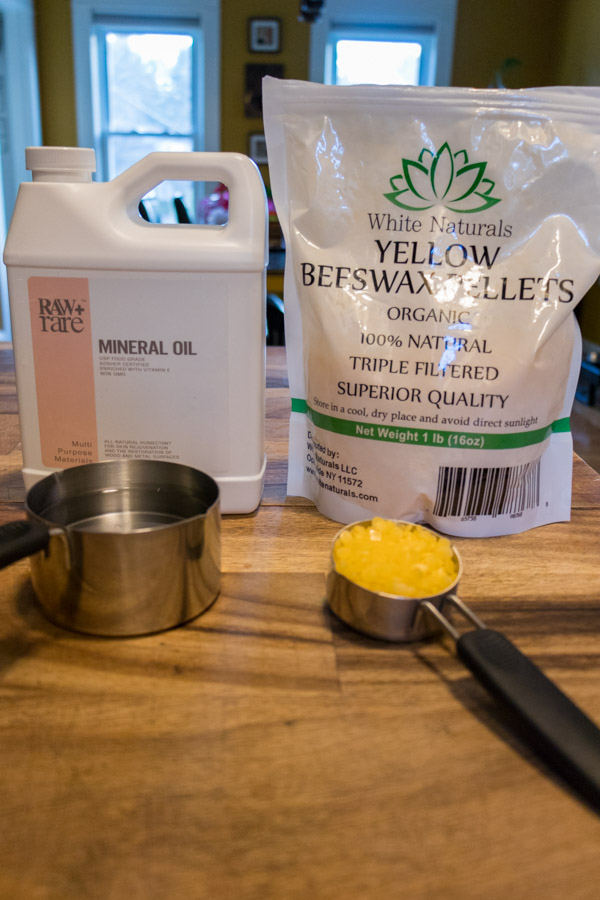 Beeswax And Mineral Oil Wood Finish Diy Tangent Topia